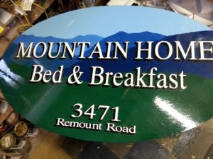 painted mt home sign